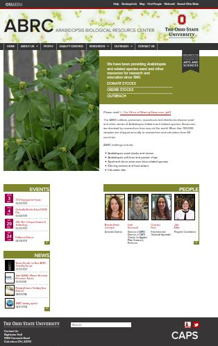 OSU Arabidopsis Bio Resource Center Web Site