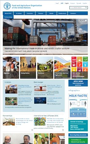 UN Food & Agriculture Web Site